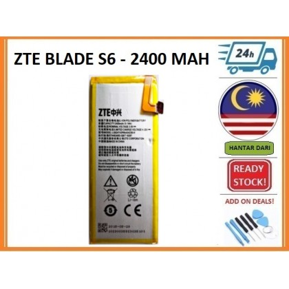 BSS Ori Zte Blade S6 Battery Replacement Sparepart Repair 2400 mAh