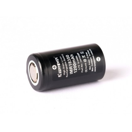 BSS Keeppower IMR 18350 1200mAh Rechargeable Battery UH1835P Bateri Lampu Suluh