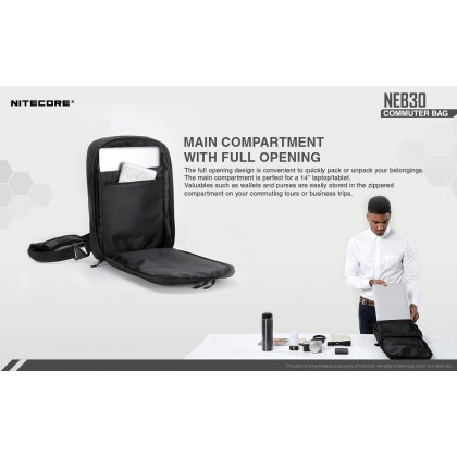 "BSS Nitecore NEB30 14"" Laptop Tablet Commuter Bag Beg Computer Ipad"